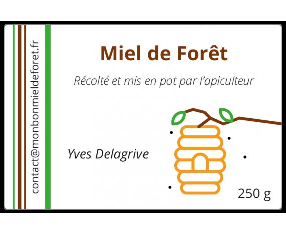 Étiquettes adhésives pour Miel de Forêt