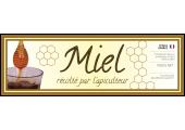 Grande étiquette miel personnalisable