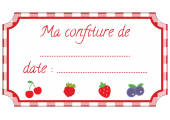 étiquette confiture fruits rouge standard