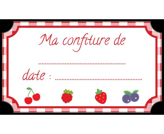 étiquette confiture fruits rouge standard