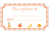 étiquette confiture fruits orange standard