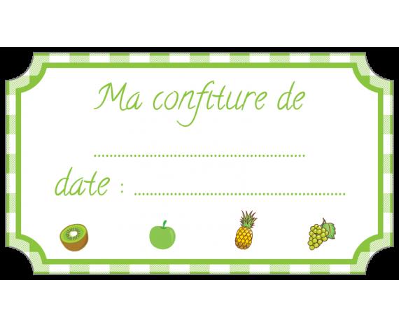 étiquette confiture fruits vert standard