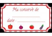 étiquette conserve légumes rouge standard