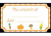 étiquette conserve légumes orange standard
