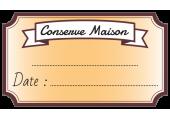 étiquette conserve maison