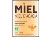 Etiquette miel d'acacia bio