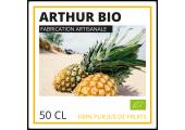 étiquette jus de fruits bio