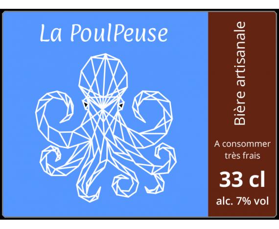 étiquette bière artisanale image poulpe