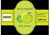 étiquette bouteille personnalisée jus de pommes