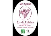étiquette jus de raisin ovale