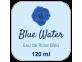 étiquette parfum eau de rose bleu