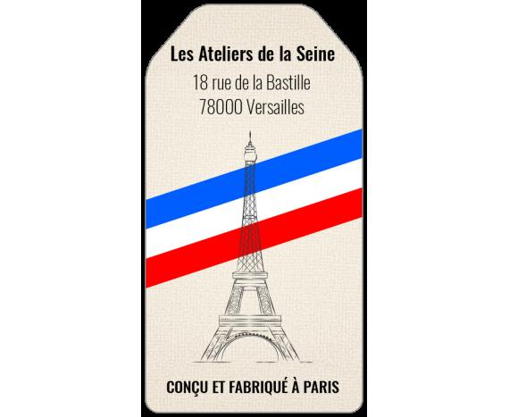 étiquette fabrication française personnalisée