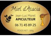 étiquette ovale miel d'acacia
