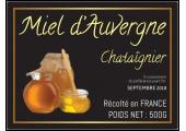 étiquette pot de miel chataigne