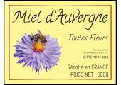 étiquette miel toutes fleurs