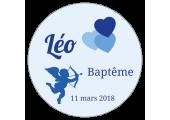 étiquette autocollante baptême enfant garçon