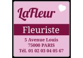 étiquette fleuriste en rouleau