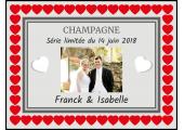 étiquette champagne mariage