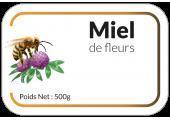 autocollant pot de miel personnalisable