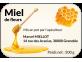 étiquette miel de fleurs 500g