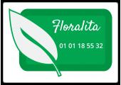 étiquette autocollante fleuriste feuille verte