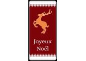 Étiquettes Joyeux Noël avec Renne