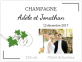 Étiquette vin personnalisé mariage