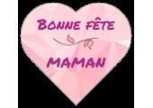 """Étiquettes forme Coeur """"Bonne Fête Maman"""""""