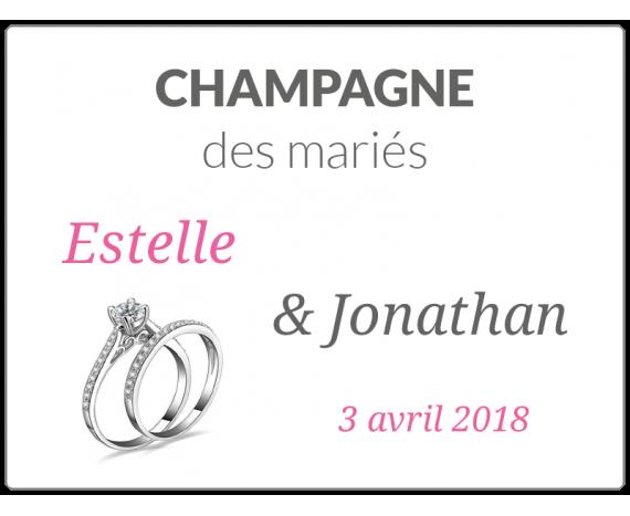 étiquette mariage bouteille champagne