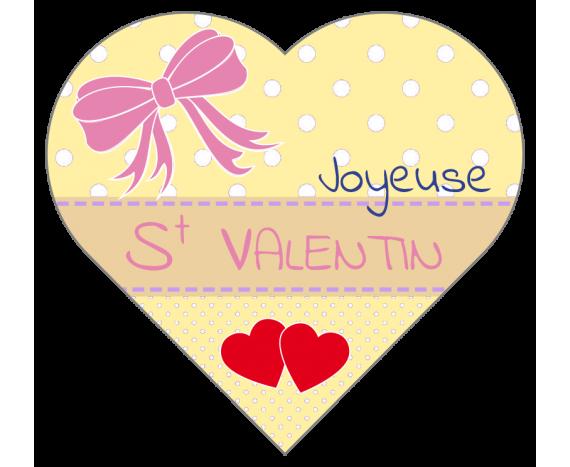 Étiquettes Joyeuse Saint Valentin en forme de coeur