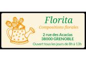 étiquette fleuriste autocollante