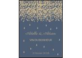 étiquette autocollante bouteille vin mariage