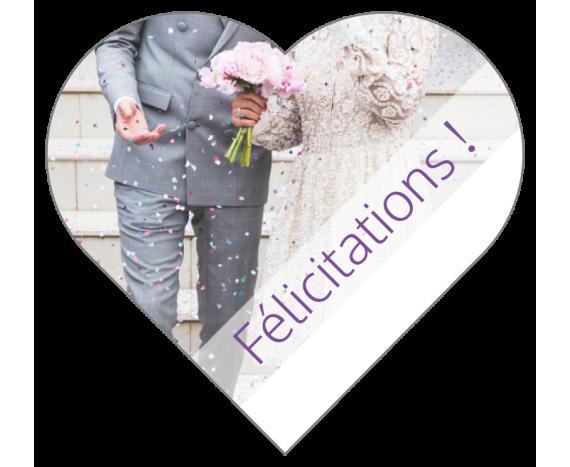 Étiquettes Félicitations pour Mariage