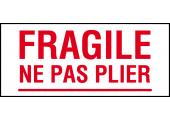 étiquette fragile ne pas plier
