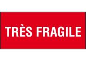 étiquette expédition rouge très fragile