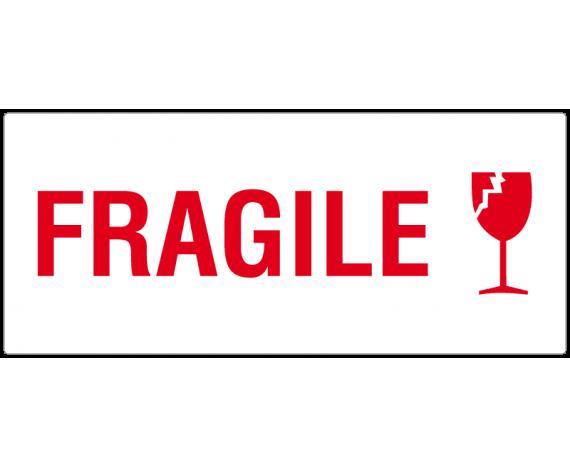 étiquette fragile verre
