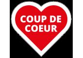 """Étiquettes """"Coup de Coeur"""" en forme de coeur"""