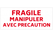 étiquette fragile manipuler avec précaution