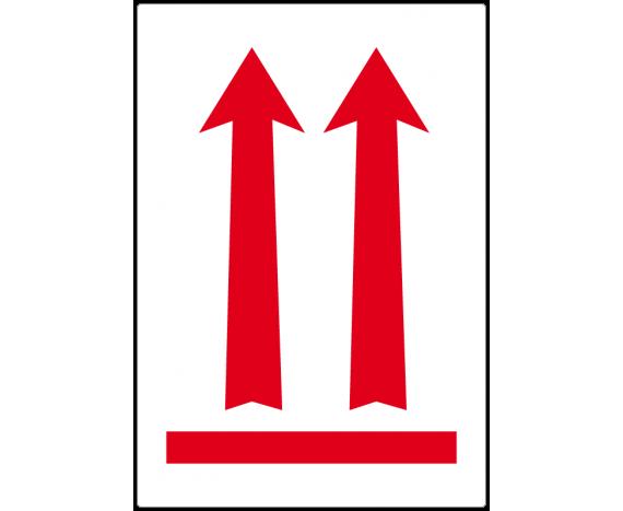 étiquette position vers le haut