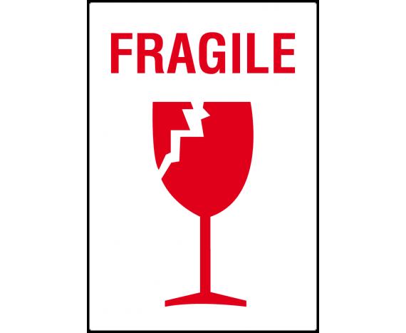 étiquette verre fragile