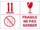 étiquette fragile ne pas gerber 3 pictos