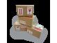 étiquette ouvrir avec précaution collée sur carton