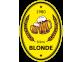 étiquette autocollante bière blonde