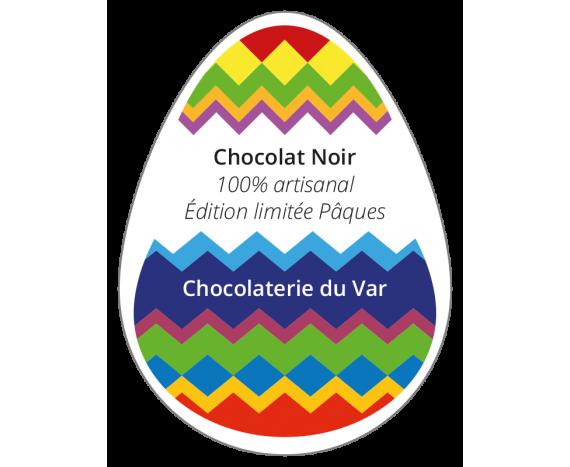 étiquette autocollante chocolaterie pâques