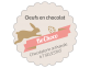 étiquette autocollante oeuf chocolat