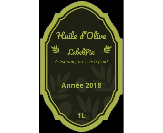 étiquette autocollante huile d'olive artisanale