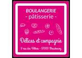 autocollant boulangerie - pâtisserie rose et blanc