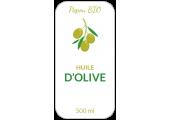 étiquette huile d'olive personnalisée
