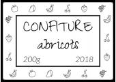 étiquette confiture abricot 200g