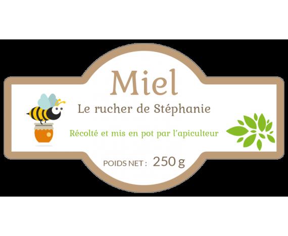 étiquette adhésive pot de miel